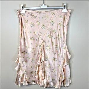 Ralph Lauren Skirts - Ralph Lauren Silk Satin Floral Skirt